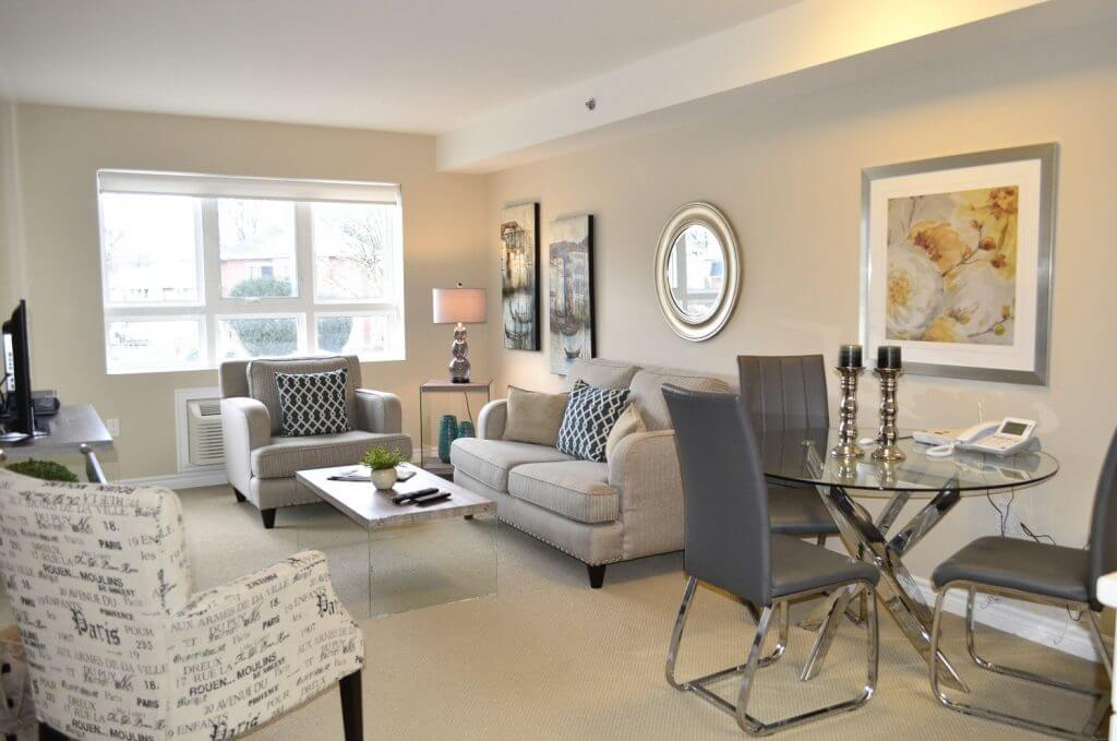 Queensview Model-Living Room & Dining